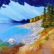 2. Lake Agnes Reflections 8x10 $270