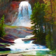 z Misty Falls 18X14