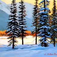 z Snowy trees